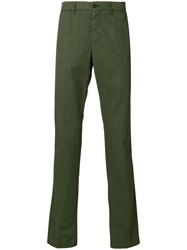 Aspesi Classic Fitted Chinos Green