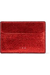 Iro Iridescent Leather Cardholder Red