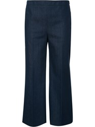 Akris Punto Cropped Trousers Blue