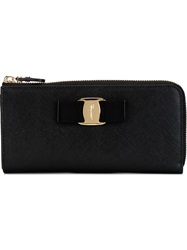 Salvatore Ferragamo 'Vara' Bow Wallet Black