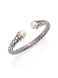 John Hardy Dot 11Mm White Pearl And Sterling Silver Cuff Bracelet Silver Black