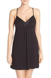 Women's Midnight By Carole Hochman V Neck Chemise Black
