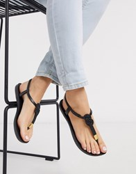 Ipanema Glam Nautical Sandals In Black