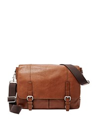 Fossil Graham Canvas Messenger Bag Cognac