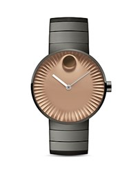 Movado Edge Watch 40Mm Copper Gray