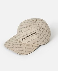 Stella Mccartney Beige Monogram Baseball Cap