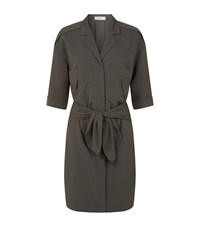 Reiss Arizona Shirt Dress Female Pewter