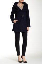 Luma Wool Blend Sweater Coat Blue