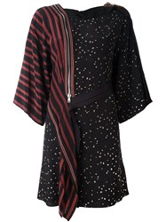 3.1 Phillip Lim Mix Print Kimono Dress Black