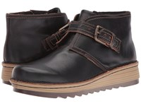 Naot Footwear Luisia Volcanic Brown Leather Women's Boots Black