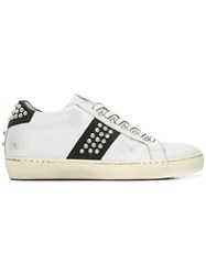 Leather Crown Wiconic Sneakers White
