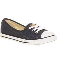 Converse Dance Lace Low Top Trainers Navy Crochet