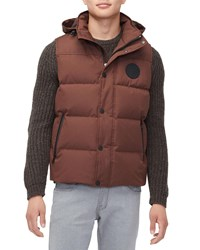 Ugg Nathaniel Waterproof Hooded Vest Brown