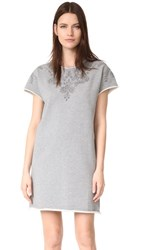 Rag And Bone Jean Eyelet Tee Dress Heather Grey