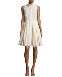 Michael Kors Collection Sleeveless Button Front Shirtdress Muslin Women's Size 2