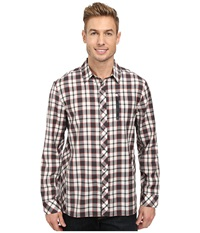 Icebreaker Compass L S Shirt Monsoon Men's Long Sleeve Button Up Red