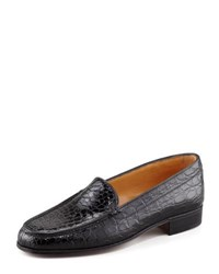 Gravati Crocodile Loafer Black