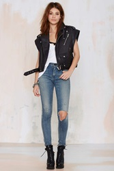 Nasty Gal Leather The Walk Away Vest