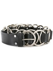 Mcq By Alexander Mcqueen Multi Ring Belt Black