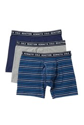 Kenneth Cole Reaction Boxer Briefs Pack Of 3 Nvy Nvycrst Lgh