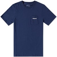 Patagonia P6 Logo Pocket Tee Blue