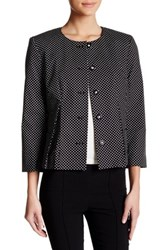 Nine West Polka Dot Two Pocket Blazer Black