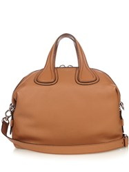 Givenchy Nightingale Leather Tote Tan