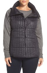 Eileen Fisher Plus Size Women's Channel Quilted Vest Black