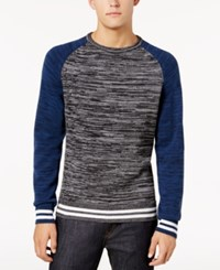 American Rag Men's Varsity Sweater Created For Macy's Ar Pewter Hthr