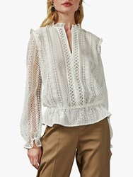 Ted Baker Comsee Embroidered Blouse White