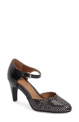 Women's Sofft 'Palesa' Leather Pump Black Gunmetal Leather