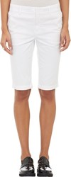 Vince. Chino Bermuda Shorts White Size 0 Us