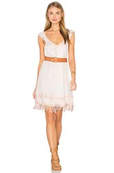 Gypsy 05 Crochet Fringe Dress Pink