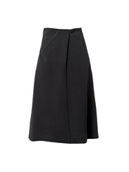 Jil Sander Sole Draped Waist Midi Skirt