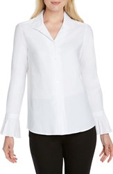 Foxcroft Alba Stretch Cotton Blend Blouse