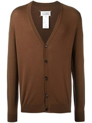 Maison Martin Margiela Classic Buttoned Cardigan Brown