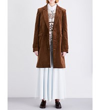 Martine Rose Tailored Corduroy Coat Brown