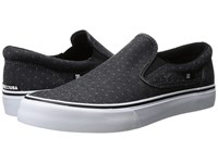 Dc Trase Slip On Tx Se Black Polka Dot Men's Skate Shoes