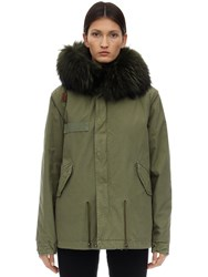 Mrandmrs Italy Army Mini Parka W Fur Trim