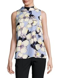 Ellen Tracy Petite High Neck Sleeveless Top Multi
