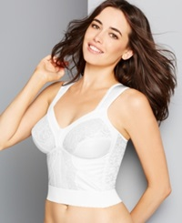 Carnival Wide Band Shoulder Strap Longline Bra 730 White