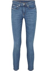 Brock Collection James Cropped High Rise Skinny Jeans Dark Denim