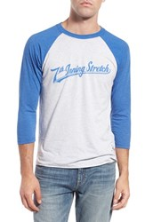 Men's 7Th Inning Stretch Logo Graphic Three Quarter Baseball T Shirt