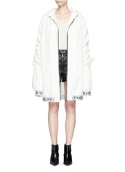 Strateas Carlucci Oversized Coated Windbreaker Jacket White