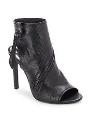 Dolce Vita Leather Stiletto Heel Boots Black