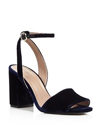Whistles Medina Block Heel Ankle Strap Sandals 100 Bloomingdale's Exclusive Navy