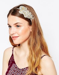 Johnny Loves Rosie Joelle Embellished Headband Gold