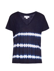 Velvet By Graham And Spencer Bennie Tie Dye Linen T Shirt