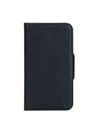 Polo Ralph Lauren Pebbled Black Leather Samsung Phone Case