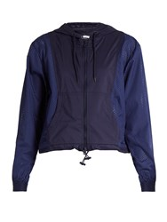 Adidas By Stella Mccartney Essentials Hooded Performance Jacket Navy